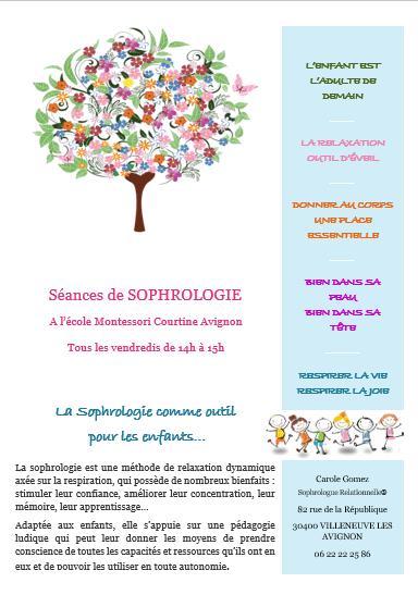 Séance de sophrologie à l'école de Montessori